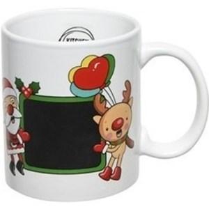 Kerst beker/mok 300 ml rendier/kerstman/ballon