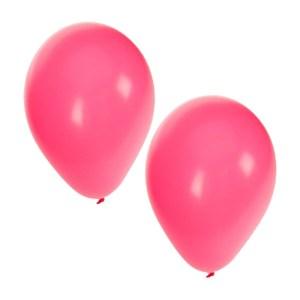 Roze party ballonnen, 100 stuks