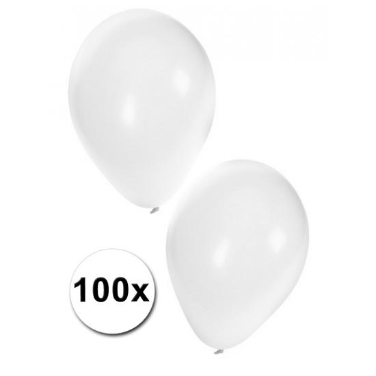 Witte bruiloft / huwelijks ballonnen versiering 100 stuks
