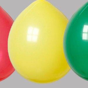 Zak met 100 Ballonnen nr 10 Rood Geel Groen