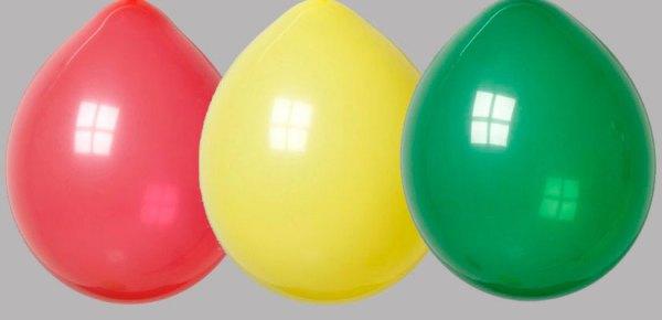 Zak met 100 Ballonnen nr 8 Rood Geel Groen