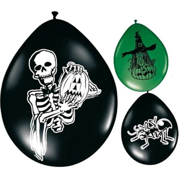 Griezel horror/halloween thema ballonnen 8 stuks