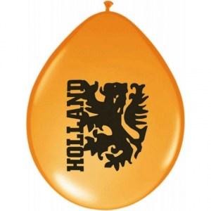 Oranje ballonnen Holland 8 stuks