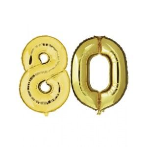 Verjaardag ballonnen 80 jaar goud