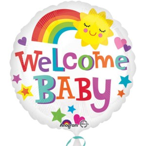 Welcome Baby Bright Bold