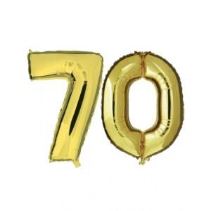 Verjaardag ballonnen 70 jaar goud