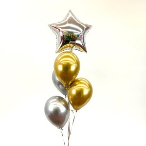 Bouquet Stern mit 4 Latexballons