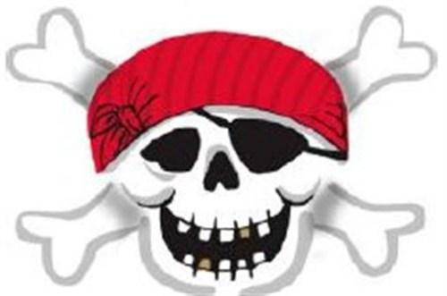Μπαλόνι Νεκροκεφαλή Πειρατή με κόκκινη μπαντάνα