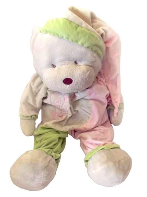 Μεγάλο Αρκουδάκι πυτζάμα ροζ- λαχανί