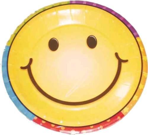 Πιάτα μικρά Smiley Face (8 τεμ)
