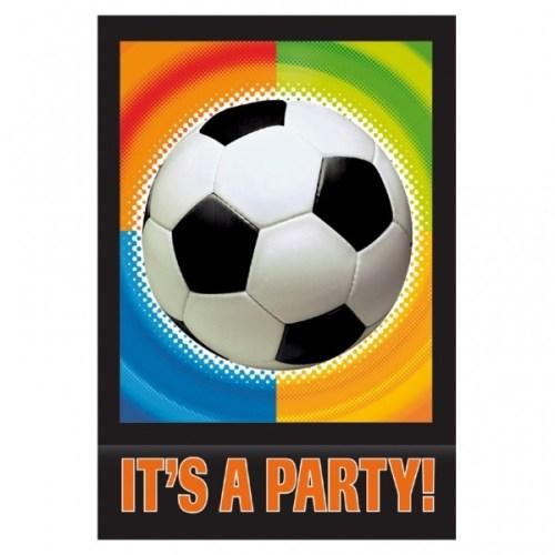 Προσκλητήρια πάρτυ Ποδόσφαιρο με φάκελο (8 τεμ)