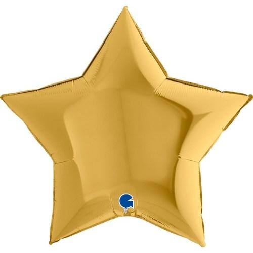 """Μπαλόνι χρυσό αστέρι 36"""""""