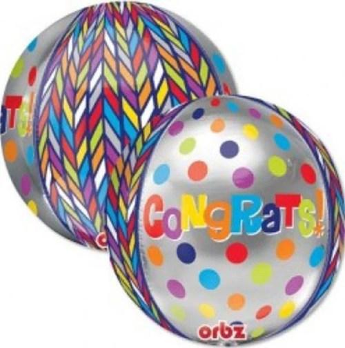Μπαλόνι για αποφοίτηση Congrats ORBZ