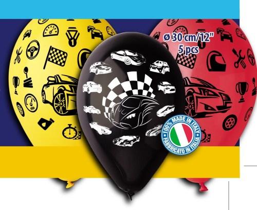 Μπαλόνια τυπωμένα Αυτοκινητάκια (5 τεμ)