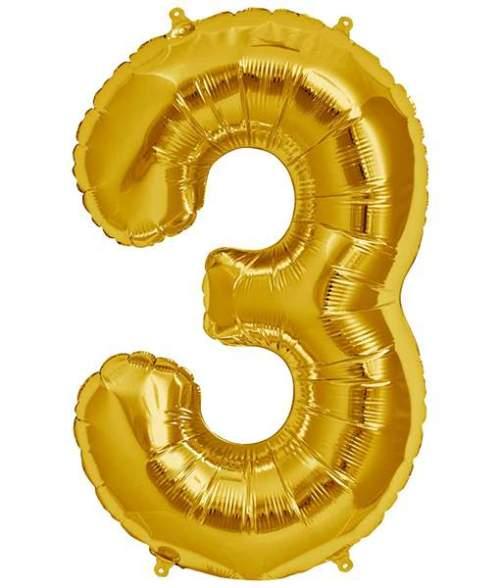 Τεράστιο Μπαλόνι 100 εκ Χρυσό Αριθμός 3