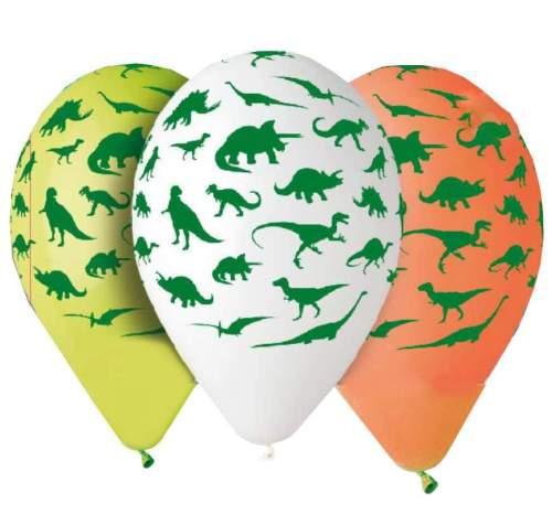 Τυπωμένα μπαλόνια με δεινόσαυρους (5 τεμ)