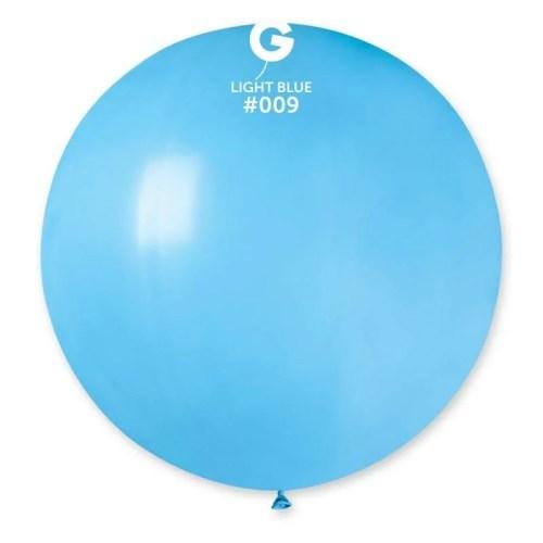 80cm - 31'' Γαλάζιο μεγάλο μπαλόνι