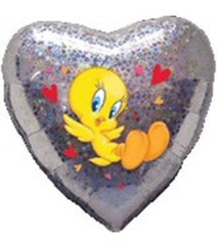 Μπαλόνι Tweety ασημί Καρδιά