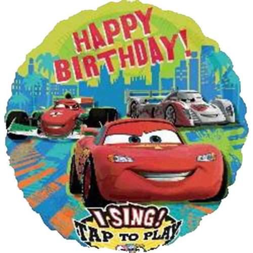 Μπαλόνι μουσικο Cars Disney ''Happy Birthday''