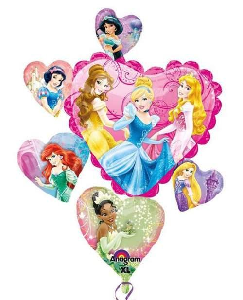 Μπαλόνι καρδιές με πριγκίπισσες Disney