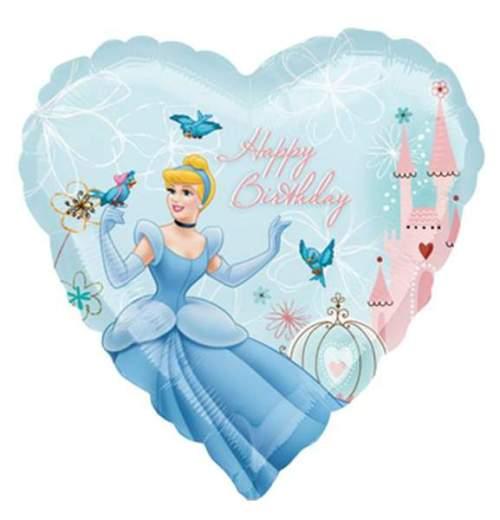 Μπαλόνι καρδιά Σταχτοπούτα Happy birthday