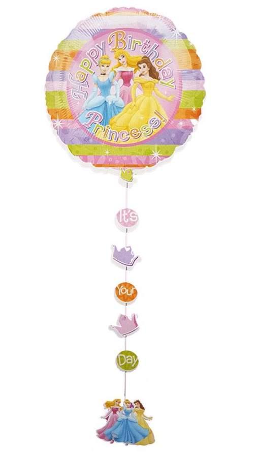 Μπαλόνι Πριγκίπισσες Happy Bday με κορδέλα 137 εκ