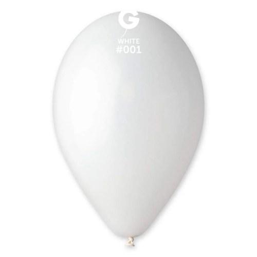 9'' Άσπρο λάτεξ μπαλόνι