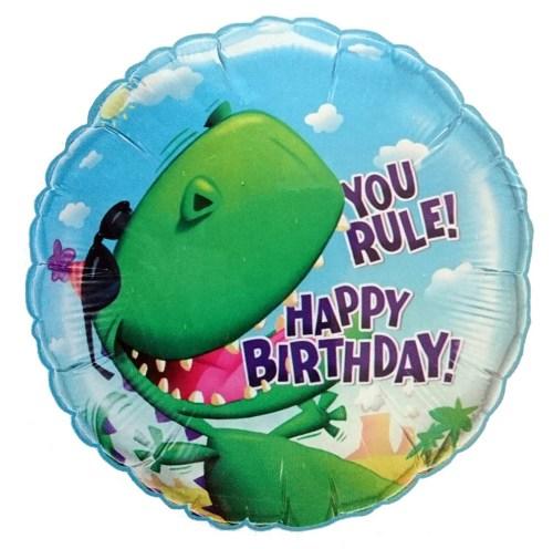 Μπαλόνι για γενέθλια Δεινόσαυρος 'You Rule Happy Birthday'