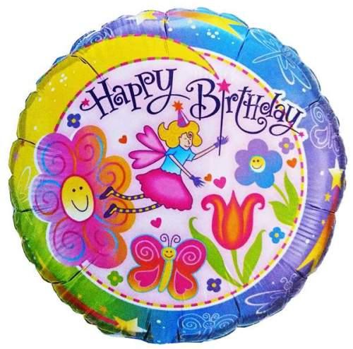 Μπαλόνι για γενέθλια Νεραιδούλα 'Happy Birthday'