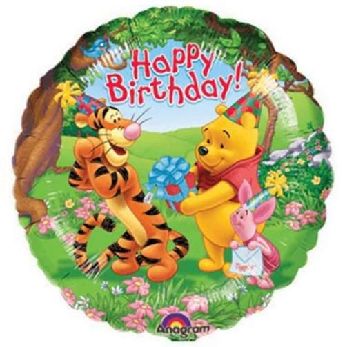 Μπαλόνι Winnie the pooh & φίλοι Happy bday
