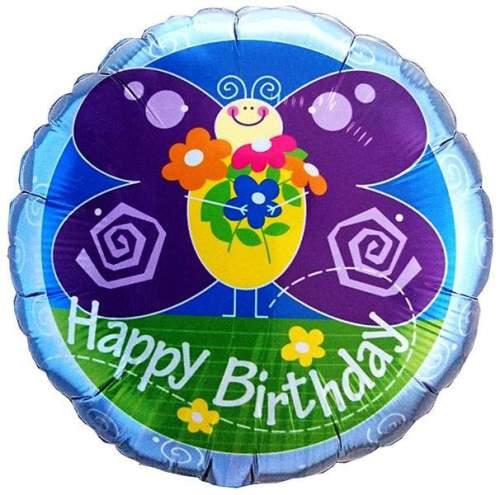 Μπαλόνι για γενέθλια Πεταλούδα 'Happy Birthday'