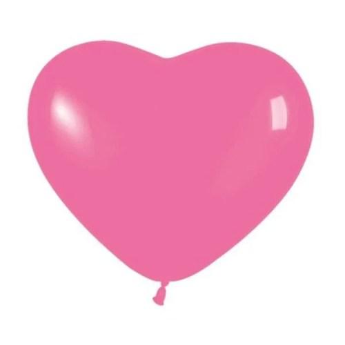 """6"""" Μπαλόνι καρδιά φούξια"""