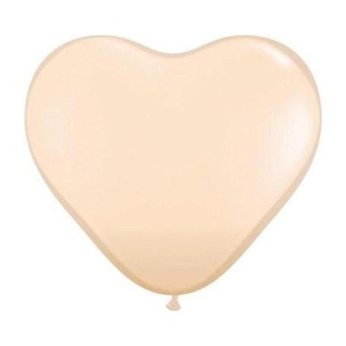 Μπαλόνι μικρό μπεζ καρδιά