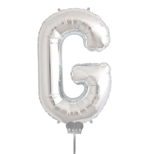 Μπαλονι 40 εκ Ασημί Γράμμα G