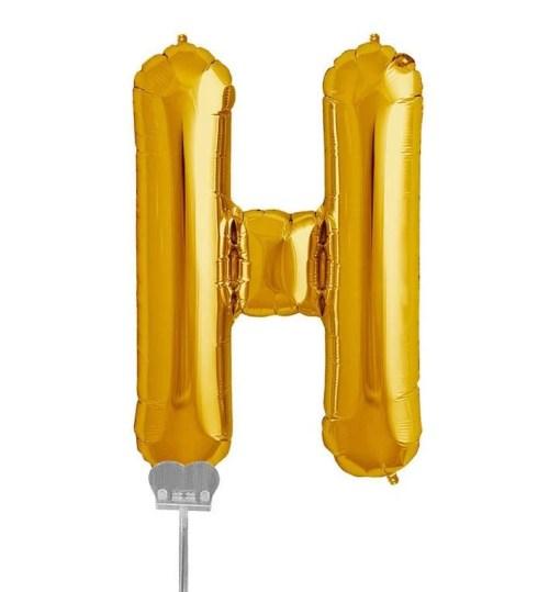 Μπαλονι 40 εκ Χρυσό Γράμμα H