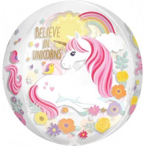Μπαλόνι Believe in Unicorns ORBZ 40 εκστρογγυλό Believe in Unicorns ORBZ