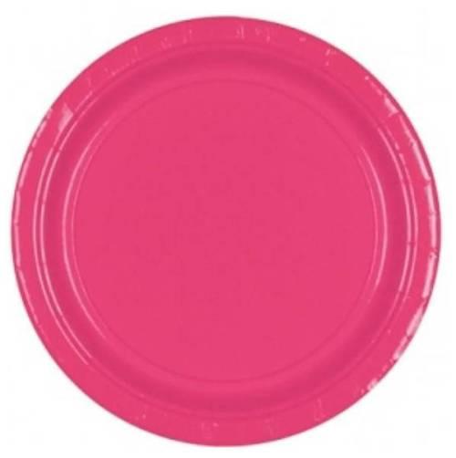 Πιάτα πάρτυ μεγάλα ροζ (20 τεμ)