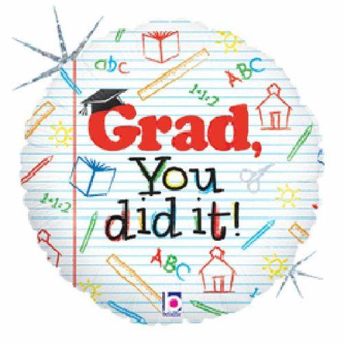 Μπαλόνι για αποφοίτηση 'Grad you did it'