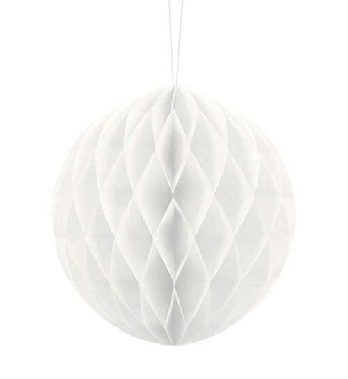 Λευκή χάρτινη διακοσμητική μπάλα