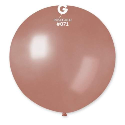 80cm - 31'' Ροζ Χρυσό μεγάλο μπαλόνι