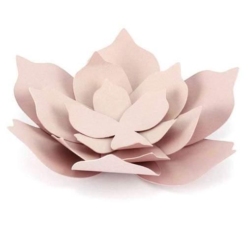 Χάρτινο διακοσμητικό λουλούδι Ροζ της πούδρας (1 τεμ)