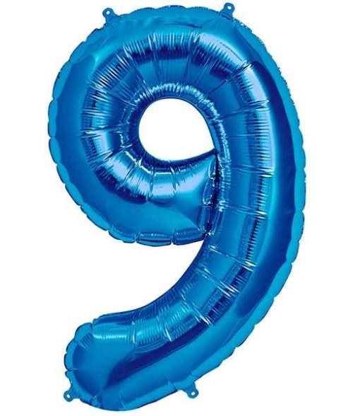 Τεράστιο Μπαλόνι 100 εκ Μπλε Αριθμός 9