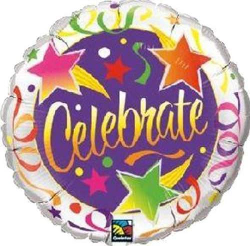 Μπαλόνι αποφοίτησης Celebrate αστέρια 45 εκ