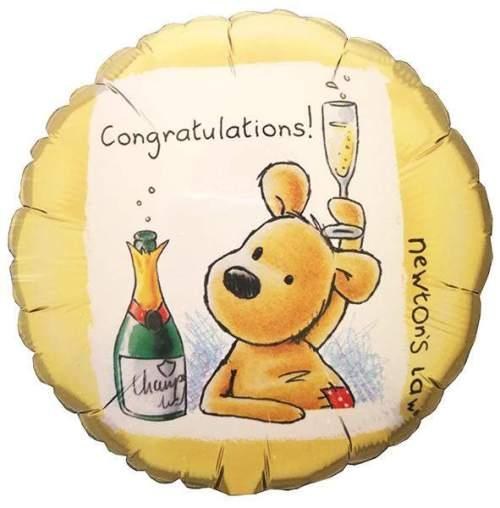 Μπαλόνι Congratulations με αρκουδάκι