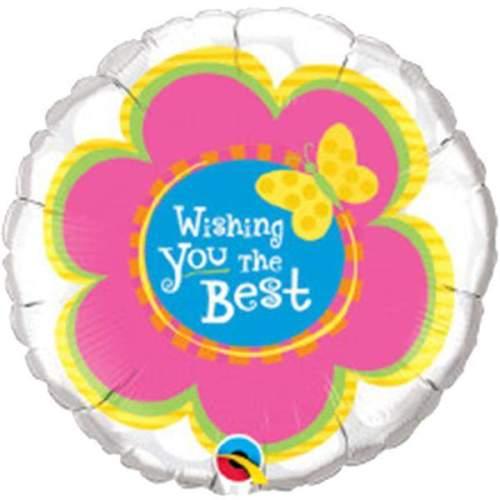 Μπαλόνι Wishing you the Best λουλούδι