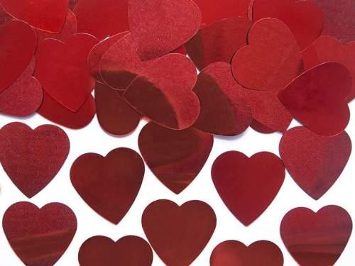 Κονφετί κόκκινες καρδιές