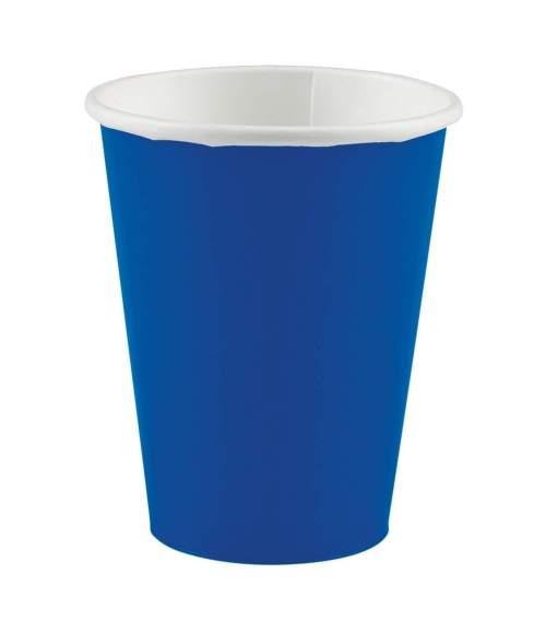 Ποτήρια πάρτυ χάρτινα μπλε ρουά (20 τεμ)