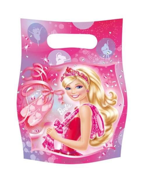 Πλαστικές τσαντούλες για δωράκια Barbie μπαλαρίνα (6 τεμ)