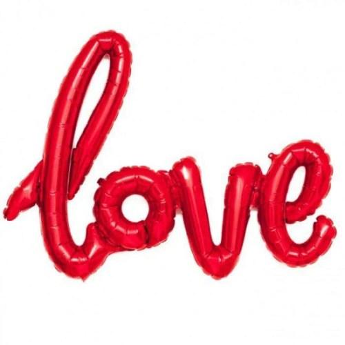 Μπαλόνι αγάπης Love Κόκκινο 101 εκ