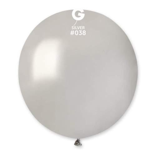 48cm - 19'' Ασημί μεγάλο μπαλόνι